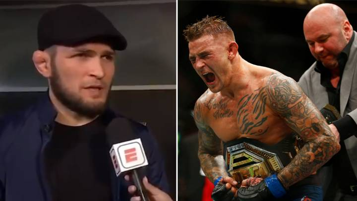Khabib Plans To 'Maul' Dustin Poirier In Their UFC Lightweight Unification Fight