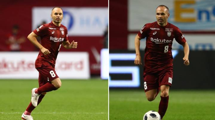 Andres Iniesta Made His Debut For Vissel Kobe Last Night And It Just Didn't Look Right