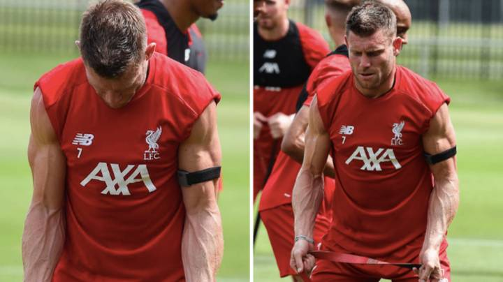 James Milner Looks Like He Spent His Entire Summer In The Gym Getting Shredded