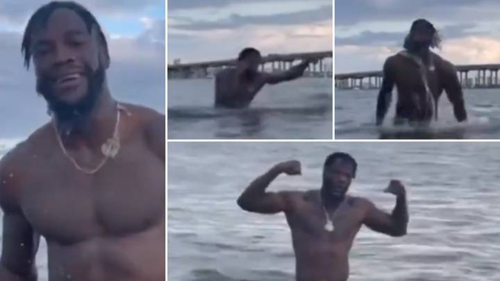 Boxing Fans Cannot Believe 'Embarrassing' Deontay Wilder Now Trains In Open Water