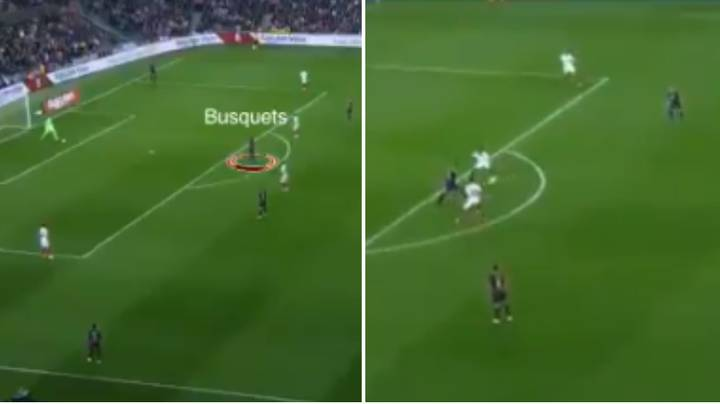 Watch: Sergio Busquets Takes Four Sevilla Players Out The Game With One Simple Touch
