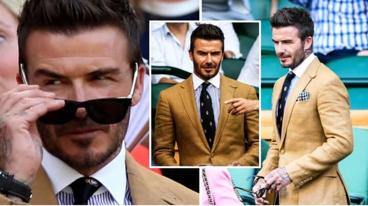 David Beckham Arrived At Wimbledon Dripping In Sauce