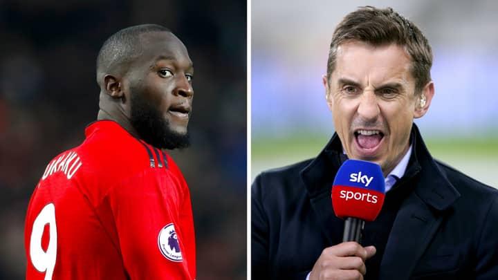 Gary Neville Slams Romelu Lukaku Over Manchester United Exit