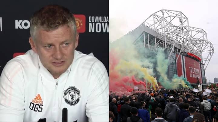 Ole Gunnar Solskjaer Blames Back-To-Back League Defeats On Manchester United Fan Protests