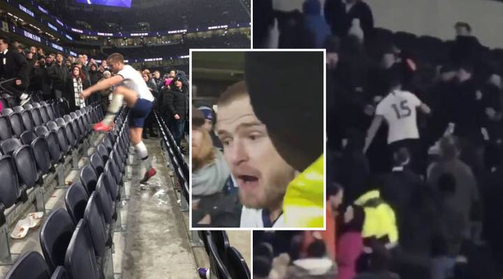 Eric Dier Shockingly Jumps Into Tottenham Stand And Confronts Fan Amid Alleged Altercation