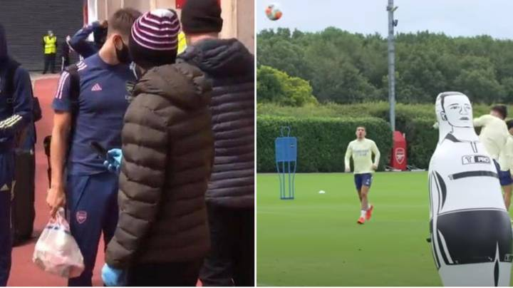 "Arsenal Players And Coaches Hilariously Call Kieran Tierney ""Tesco's"" In Training"