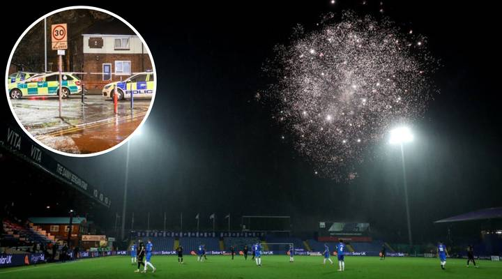 Stockport County Vs West Ham United Stopped By Remarkable Firework Display