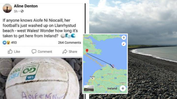 10-Year-Old Reunited With Lost Football After It Takes 124 Mile, 7-Day Trip Across Irish Sea To Wales