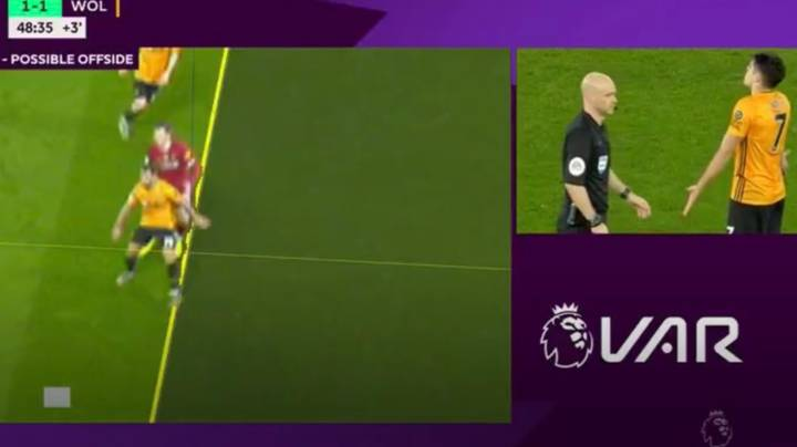 VAR Rules Out Wolves Equaliser Against Liverpool At Anfield