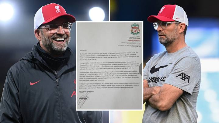 Jurgen Klopp Sends Emotional Letter To 11-Year-Old Liverpool Fan About Anxiety