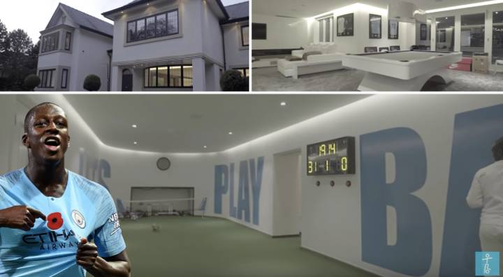 Benjamin Mendy Has A Football Pitch Inside His House And It's Insane