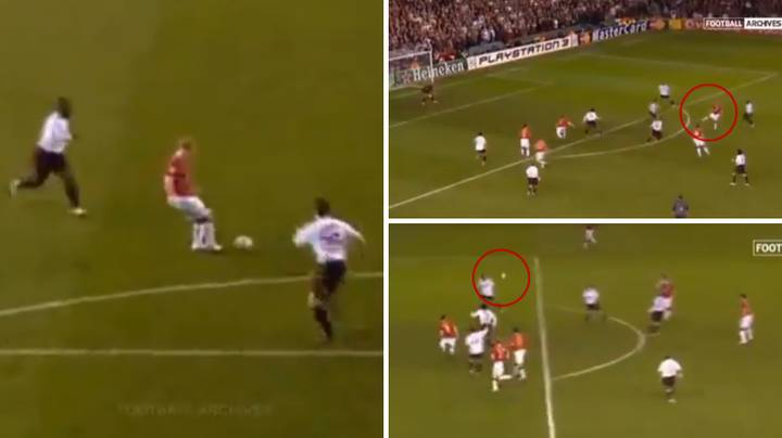 Remembering Paul Scholes Perfect Assist For Wayne Rooney