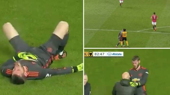David De Gea Was Flattened After Running Into Physical Specimen Adama Traore