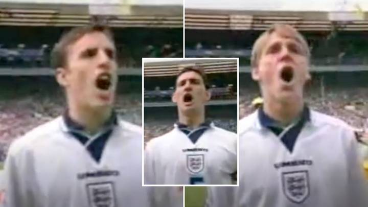 Emotional England Players Belting Out 'God Save The Queen' At Euro 96 Will Give You Goosebumps