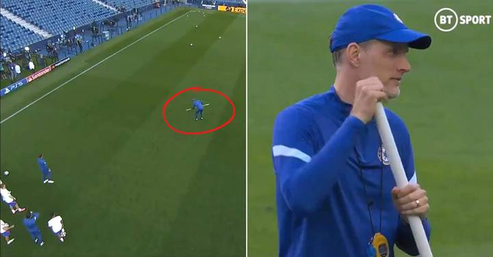 Thomas Tuchel Bizarrely Introduces 'Football Curling' Into Chelsea's Pre-Match Training