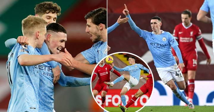 Phil Foden Crowns 'Man Of The Match' Display Against Liverpool With Wonder-Goal