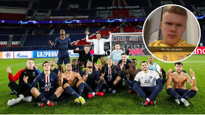 Only One Player Didn't Join PSG Players In Mocking Erling Haaland
