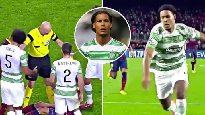 Liverpool Fan's Tweet Of Van Dijk Playing Against Barcelona Goes Viral Despite Celtic Losing 6-1