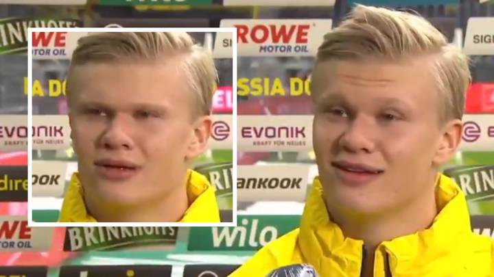 Erling Haaland Delivers Bizarre Post-Match Interview And It's Left Fans Shook
