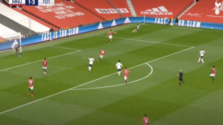 Footage Shows How Luke Shaw Ignored Shout From David De Gea For Spurs' Fourth Goal