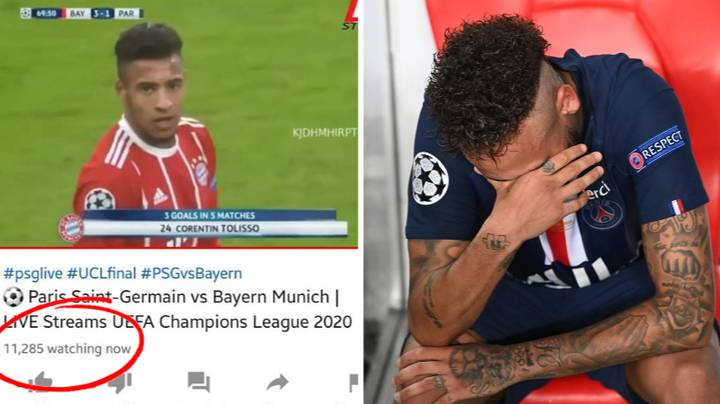More Than 11,000 People Watched The Wrong PSG vs Bayern Munich Game Last Night