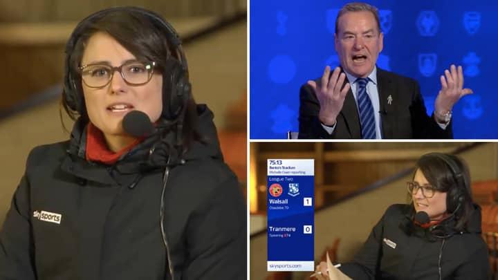 Sky Sports' Presenter Michelle Owen Did Her Best Chris Kamara Impression Last Night