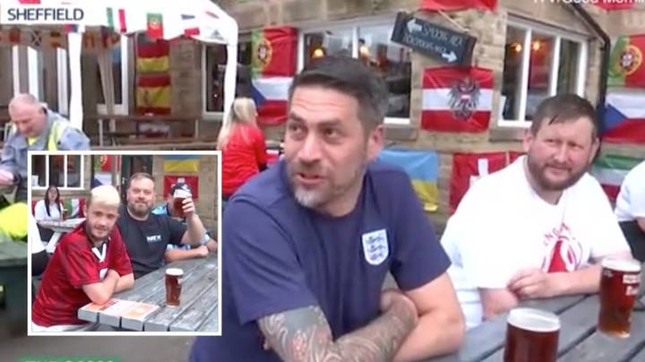 England Fans Were Already Sat In The Pub At 7am Ahead Of Germany Game