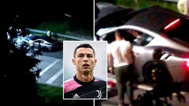 Cristiano Ronaldo Caught Packing Up His Supercars Amidst Juventus Exit Rumours