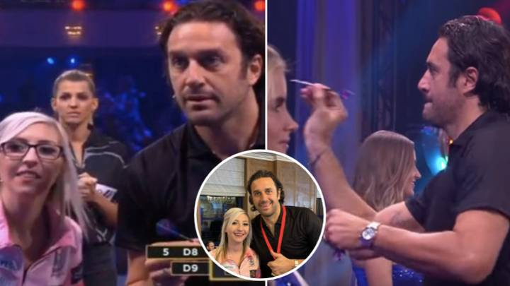 Luca Toni Somehow Beat Phil Taylor At Darts With This Awful Technique