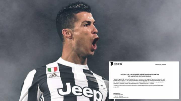 A Complete Breakdown Of Cristiano Ronaldo's Massive Contract At Juventus