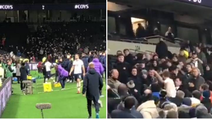 Full Footage Of Eric Dier Jumping Into Crowd To Confront Spurs Fan Who Insulted His Brother