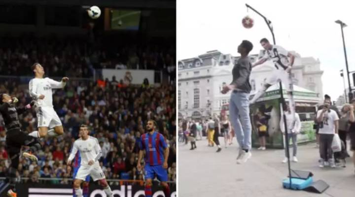 Cristiano Ronaldo 'Jump Challenge' Was Open To The Public, With £1000 Prize Up For Grabs
