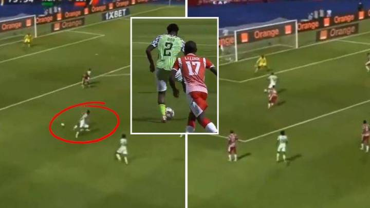 Ola Aina's No-Look Backheel Assist For Nigeria Is Just Outrageous