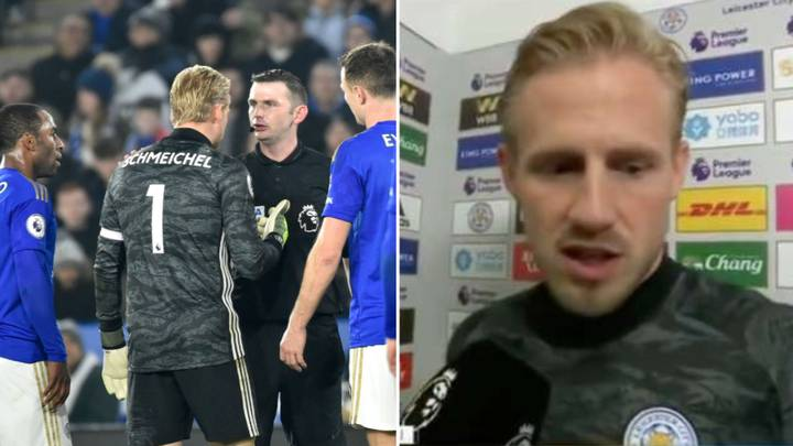 Kasper Schmeichel Slammed For Furious Rant At Referee Michael Oliver After Liverpool Defeat