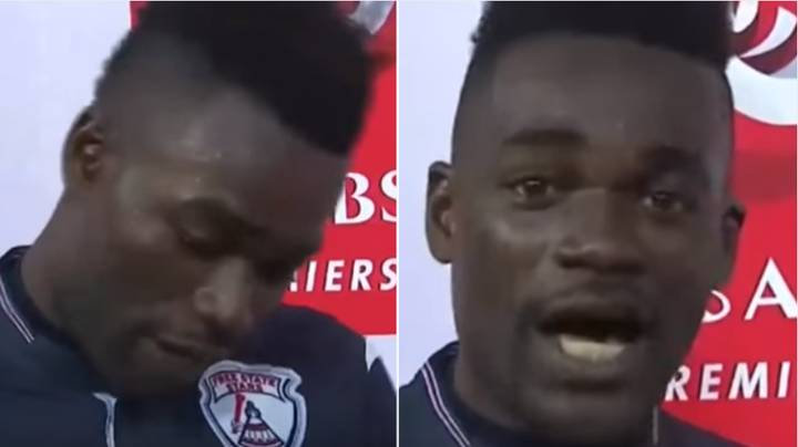 Remembering When A Footballer Thanked His Wife And Girlfriend In Post-Match Interview