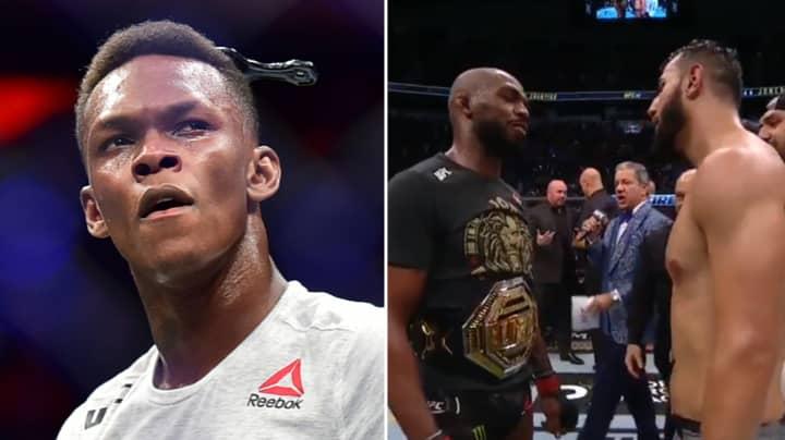 Israel Adesanya Savagely Trolls Jon Jones After He Narrowly Beats Dominick Reyes At UFC 247