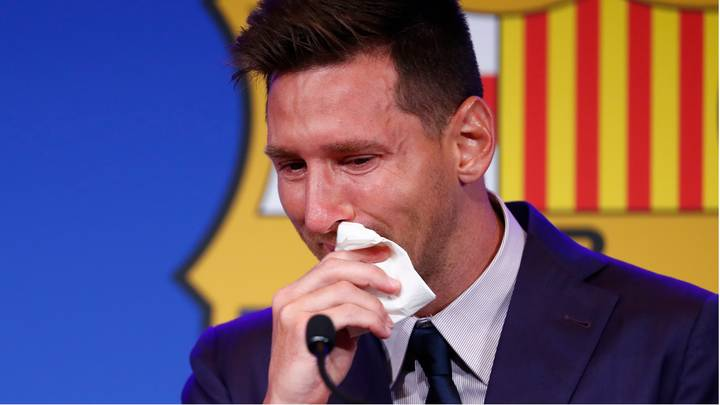 Lionel Messi's Used Tissue From His Farewell Press Conference Goes On Sale For $1 Million