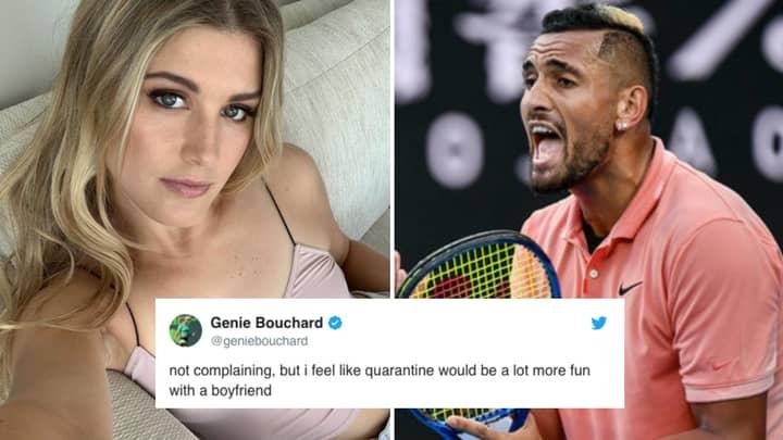 Genie Bouchard Says She Wants A Boyfriend To Quarantine With, Nick Kyrgios Responds