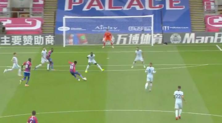 Wilfried Zaha Nearly Bursts The Net Against Chelsea After Wonder Goal
