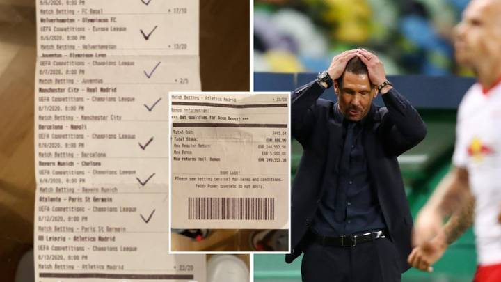 Punter Misses Out On €249,553.58 Bet After Atletico Madrid's Champions League Defeat Against RB Leipzig