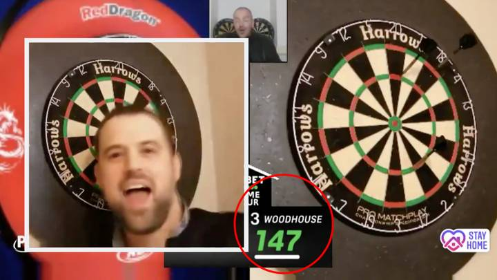 Watch Luke Woodhouse Score An Amazing Nine-Darter From His Kitchen