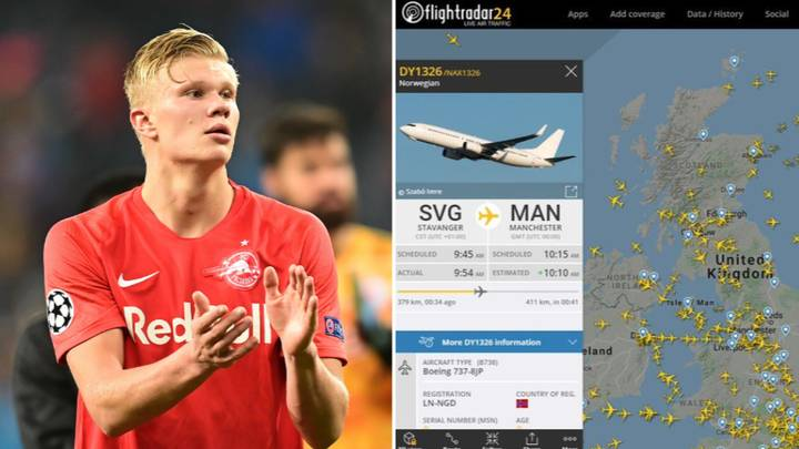 Manchester United Fans Have Tracked Erling Haaland's Flight To Manchester