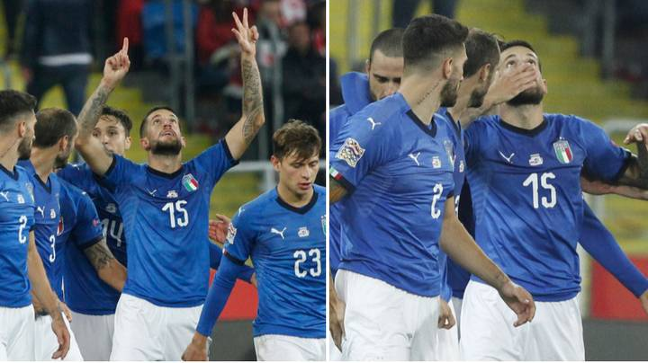 Cristiano Biraghi Dedicates Italy's Winning Goal To The Late Davide Astori