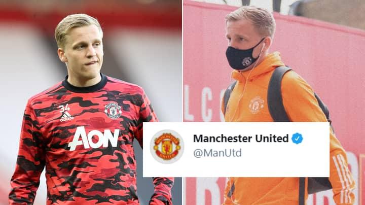 Manchester United Fans Furious Over Club's Tweet About Donny van de Beek