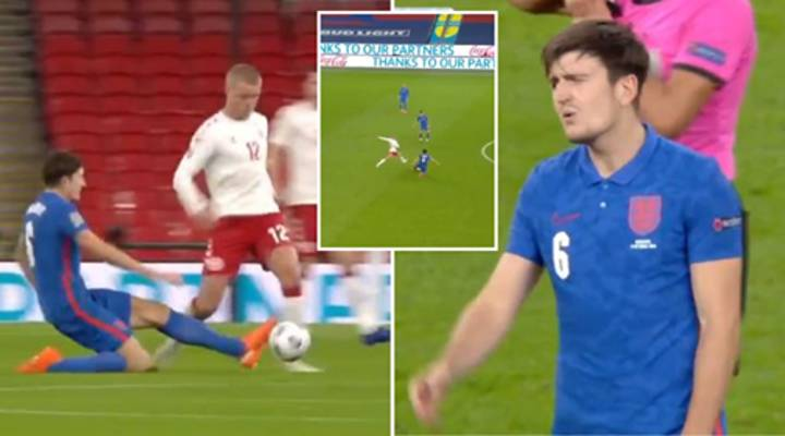 Harry Maguire Sent Off For England Vs Denmark After A Disastrous 31 Minutes