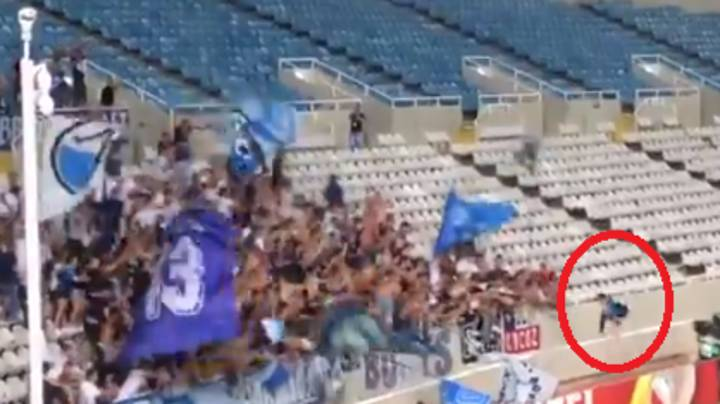 FC Zurich Player Celebrates Winner By Jumping Over Wall, It Doesn't End Well