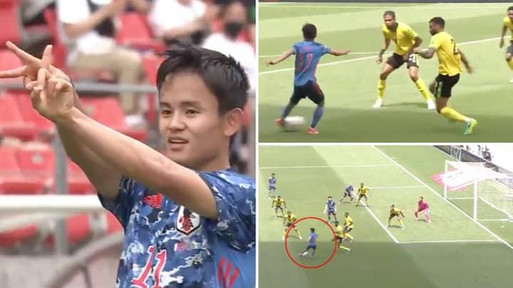 Japan's Takefusa Kubo Scores Freak 'Quadruple Nutmeg' Goal Against Jamaica And It's Blowing People's Minds