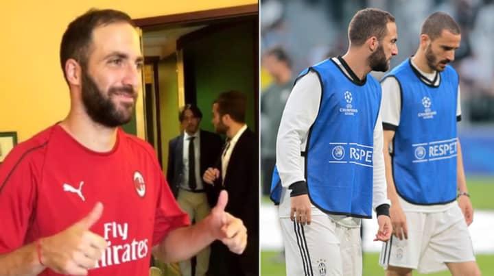Gonzalo Higuain Is Now AC Milan Player, Leonardo Bonucci Joins ...