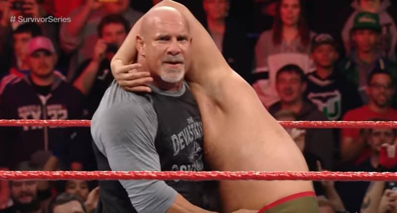 WATCH: Goldberg Hits A Jackhammer And Spear Ahead of Brock Lesnar Showdown