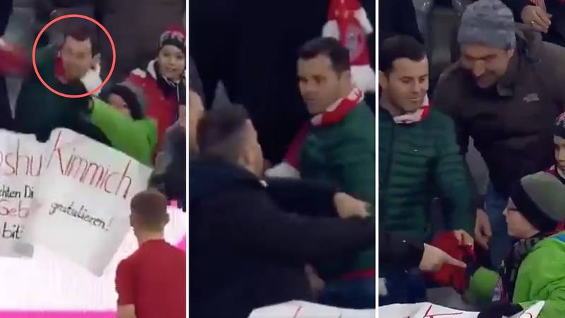 Fan Snatches Kimmich's Shirt From Young Supporter, Other Fans Force Him To Give It Back